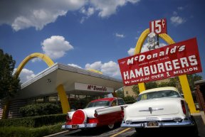 The McDonald's Restaurant Store Museum is seen in the Chicago suburb of Des Plaines